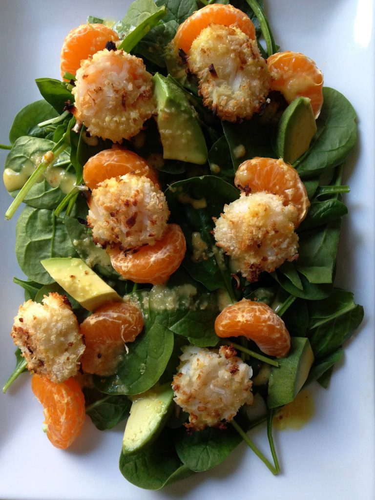 Coconut Shrimp Salad with Orange and Avocado • Chef Jen